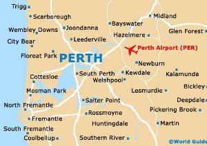 map of perth, wa
